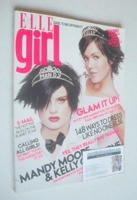 Elle Girl magazine - February 2003 - Mandy Moore and Kelly Osbourne cover
