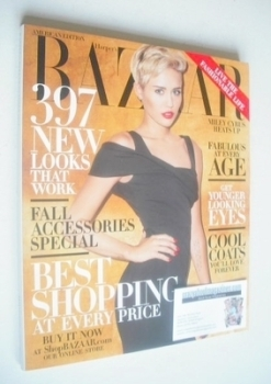 Harper's Bazaar magazine - October 2013 - Miley Cyrus cover