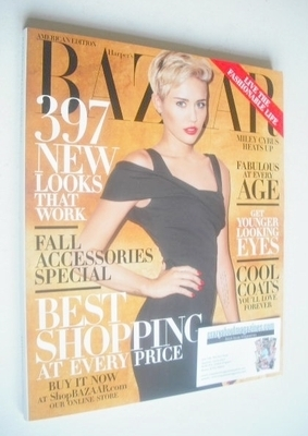 <!--2013-10-->Harper's Bazaar magazine - October 2013 - Miley Cyrus cover