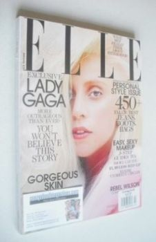 US Elle magazine - October 2013 - Lady Gaga cover