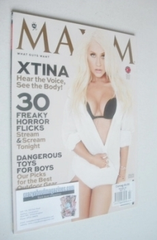 Maxim magazine - Christina Aguilera cover (October 2013 - US Edition)