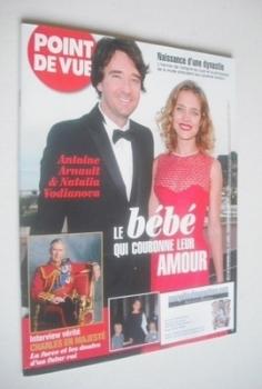 Point De Vue magazine - Natalia Vodianova and Antoine Arnault cover (13-19 November 2013)