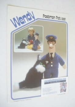Postman Pat and Cat Jess Toy Knitting Pattern (Wendy 2261)