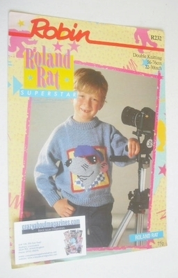Roland Rat Sweater Knitting Pattern (Robin R232) (Child Size)