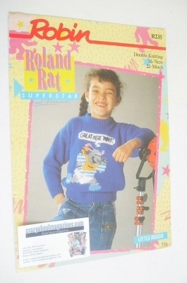 Little Reggie Sweater Knitting Pattern (Robin R235) (Child Size)