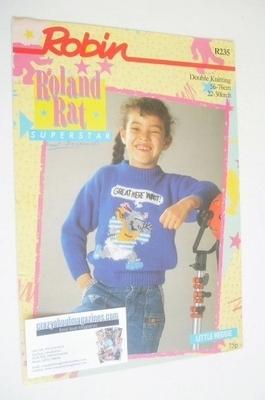 Little Reggie Sweater Knitting Pattern (Robin R235) (Child Size)