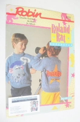Roland Rat Sweater Knitting Pattern (Robin R233) (Child/Adult Size)