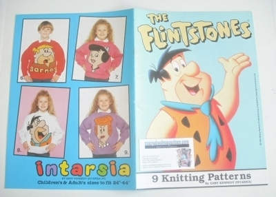 The Flintstones Sweater Knitting Patterns x9 (Intarsia) (Child/Adult Size)
