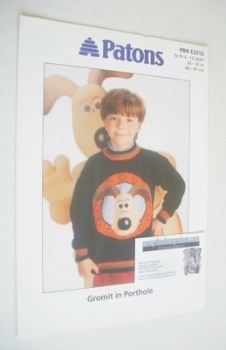 Gromit in Porthole Sweater Knitting Pattern (Patons PBN E2212) (Child Size)