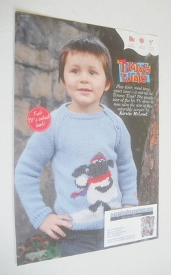 Timmy the Lamb Sweater Knitting Pattern (Child Size)