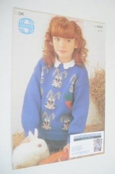 Rabbit Sweater Knitting Pattern (Sirdar C4581) (Child Size)