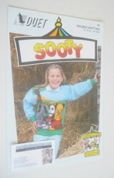 Sooty, Sweep and Soo Picnic Sweater Knitting Pattern (Duet S1) (Child/Adult Size)