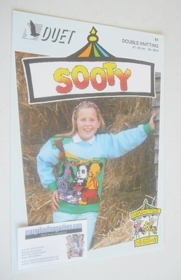 Sooty, Sweep and Soo Picnic Sweater Knitting Pattern (Duet S1) (Child/Adult