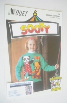 Sooty, Soo and Butterfly Sweater Knitting Pattern (Duet S3) (Child/Adult Size)