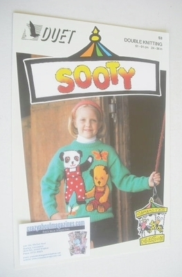 Sooty, Soo and Butterfly Sweater Knitting Pattern (Duet S3) (Child/Adult Si