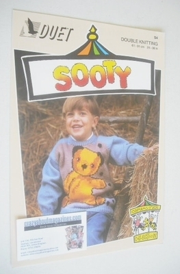 Sooty In Fireplace Sweater Knitting Pattern (Duet S4) (Child/Adult Size)