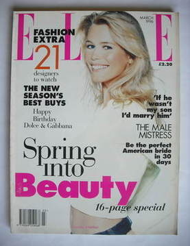 <!--1996-03-->British Elle magazine - March 1996 - Claudia Schiffer cover