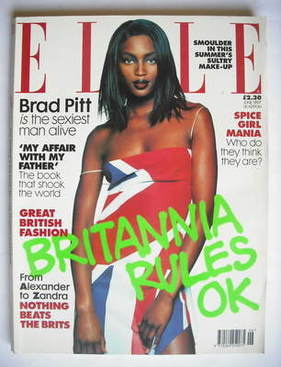<!--1997-06-->British Elle magazine - June 1997 - Naomi Campbell cover
