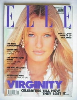British Elle magazine - November 1992 - Karen Mulder cover