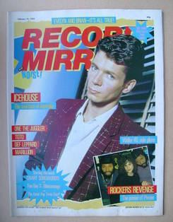 <!--1983-02-19-->Record Mirror magazine - Iva Davies cover (19 February 198
