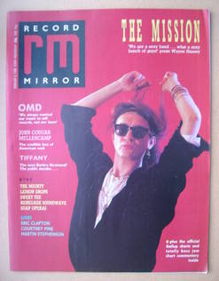 <!--1988-02-06-->Record Mirror magazine - Wayne Hussey cover (6 February 19