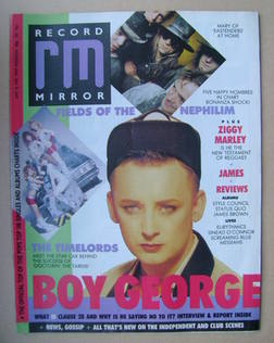<!--1988-06-18-->Record Mirror magazine - Boy George cover (18 June 1988)