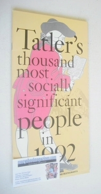 Tatler supplement - Tatler's Thousand Most Socially Significant People In 1