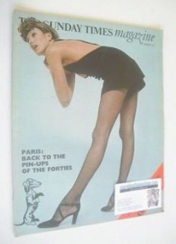 The Sunday Times magazine - Paris, Back To The Pin-Ups Of The Forties cover (21 February 1971)
