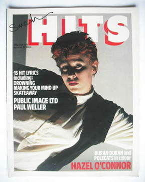 <!--1981-04-16-->Smash Hits magazine - Hazel O'Connor cover (16-29 April 19