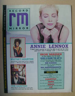 <!--1988-04-09-->Record Mirror magazine - Annie Lennox cover (9 April 1988)