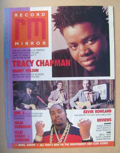 <!--1988-07-09-->Record Mirror magazine - Tracy Chapman cover (9 July 1988)