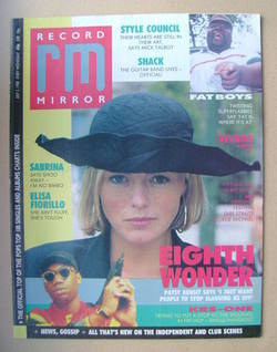 <!--1988-07-02-->Record Mirror magazine - Patsy Kensit cover (2 July 1988)