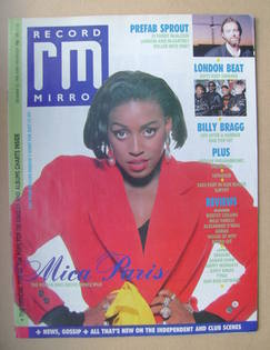 <!--1988-12-10-->Record Mirror magazine - Mica Paris cover (10 December 198