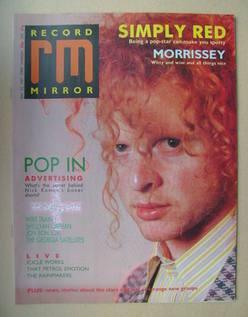 <!--1987-05-23-->Record Mirror magazine - Mick Hucknall cover (23 May 1987)