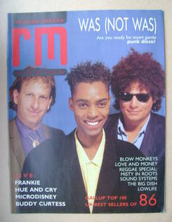 Record Mirror magazine - Was (Not Was) cover (24 January 1987)