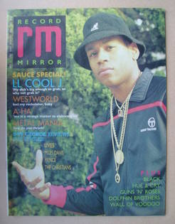 <!--1987-07-11-->Record Mirror magazine - LL Cool J cover (11 July 1987)