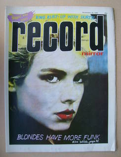 <!--1983-11-19-->Record Mirror magazine - Kim Wilde cover (19 November 1983