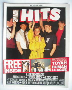 <!--1982-03-18-->Smash Hits magazine - Altered Images cover (18-31 March 19