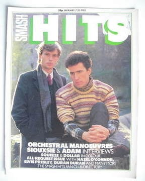 <!--1982-01-07-->Smash Hits magazine - Orchestral Manoeuvres In The Dark co