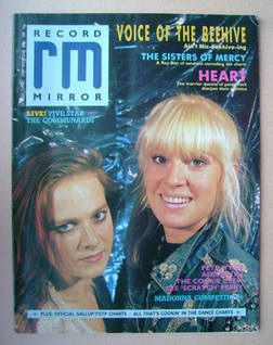 <!--1987-10-17-->Record Mirror magazine - Voice Of The Beehive cover (17 Oc