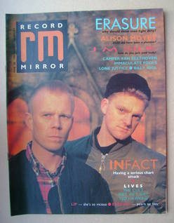 <!--1987-03-28-->Record Mirror magazine - Erasure cover (28 March 1987)