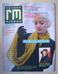 <!--1988-03-05-->Record Mirror magazine - Tracey (The Primitives) cover (5