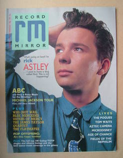 <!--1987-12-05-->Record Mirror magazine - Rick Astley cover (5 December 198