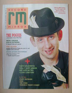 <!--1987-12-19-->Record Mirror magazine - Shane MacGowan cover (19 December