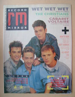 <!--1987-07-18-->Record Mirror magazine - Wet Wet Wet cover (18 July 1987)