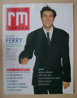 <!--1987-10-31-->Record Mirror magazine - Bryan Ferry cover (31 October 198