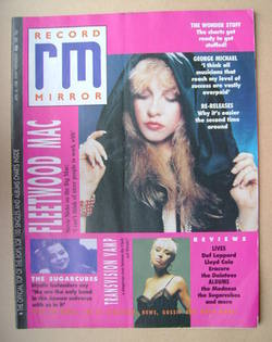 <!--1988-04-30-->Record Mirror magazine - Stevie Nicks cover (30 April 1988