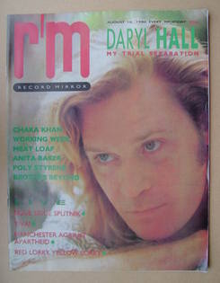 <!--1986-08-16-->Record Mirror magazine - Daryl Hall cover (16 August 1986)