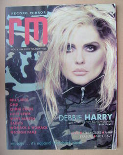 <!--1986-11-08-->Record Mirror magazine - Debbie Harry cover (8 November 19