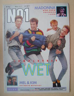 <!--1987-07-25-->No 1 Magazine - Wet Wet Wet cover (25 July 1987)